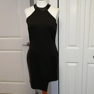 Venus sexy faux leather dress